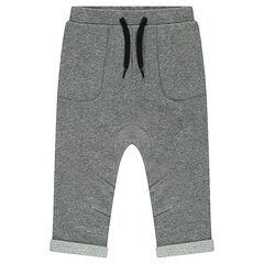 Pantalón de jogging de muletón asargado