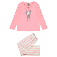 Pijama largo con estampado de ciervo