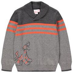 Jersey de punto con estampado de Tigger Disney con rayas que contrastan