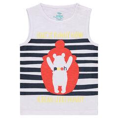 Camiseta sin mangas de punto slub ©Disney con estampado de Winnie The Pooh
