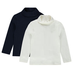 Pack de 2 camisetas de punto lisas