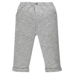 Pantalón de felpa cintura elástica