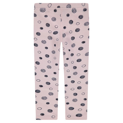 Leggings de punto con estampado de lunares all-over