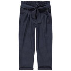 Pantalón carot con cordones que se anudan