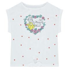 Camiseta de manga corta de punto con forma cuadrada ©Disney estampado de Bella