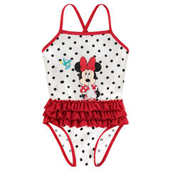 Bañador de 1 pieza con lunares y estampado de Disney Minnie