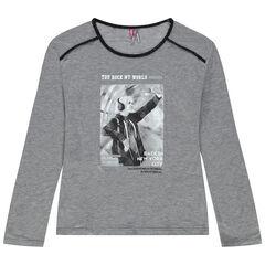 Camiseta de manga larga estampada