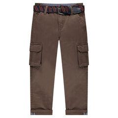 Pantalón recto con bolsillos y cinturón extraíble