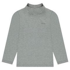 Júnior - Camiseta interior de punto de cuello alto