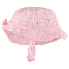 Sombrero en bordado inglés