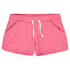 Pantalón corto de punto con flamenco rosa estampado