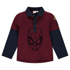 Polo de manga larga efecto 2 en 1 ©Marvel con estampado de Spiderman