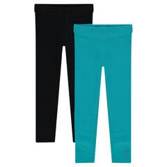 Pack de 2 leggings lisos de punto