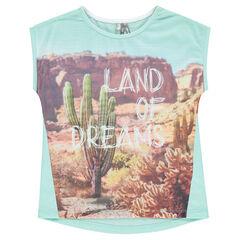 Camiseta de manga corta con un precioso estampado