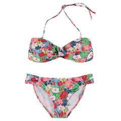 Bikini de premamá con flores estampadas all over