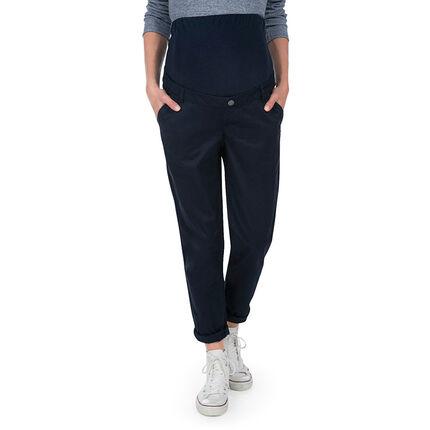Pantalón premamá con corte holgado y banda superior