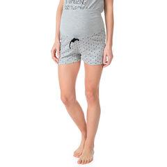 Pantalón corto homewear de embarazada estampado all-over