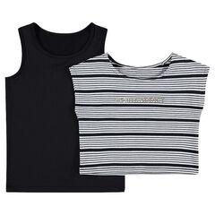 Júnior - Camiseta 2 en 1 con crop top disponible