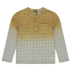 Júnior - Camiseta de manga larga de punto con efecto tie and dye