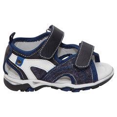 Sandalias bimaterial con velcros - SAXO BLUES
