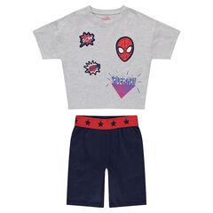 Pijama corto de punto con parches ©Marvel de Spiderman