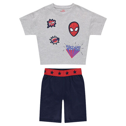 Pijama corto de punto con parches ©Marvel de Spiderman