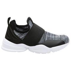 Zapatillas jaspeadas con gran elástico sin cordones