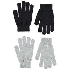 Juego de 2 pares de guantes de punto