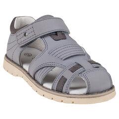 Zapatos descubiertos con correas de aspecto cuero lisos
