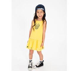 Vestido amarillo con Minnie ©Disney estampada en la parte delantera
