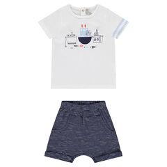 Conjunto de camiseta y pantalón corto bombacho