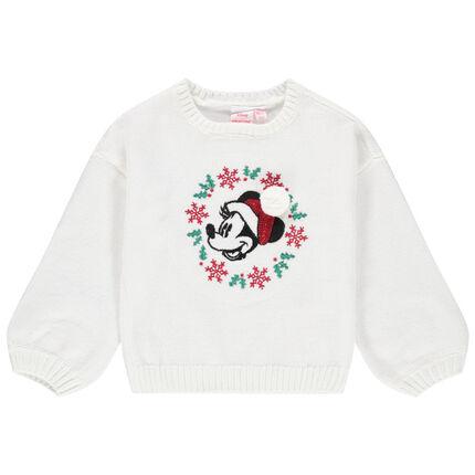 Jersey de punto liso con Minnie de estilo navideño Disney