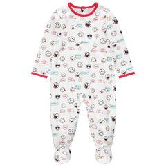 Pijama de punto con estampado de Smiley all over