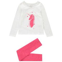 Pijama de punto con unicornio estampado