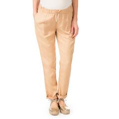 Pantalón de premamá de tencel corte amplio
