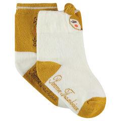 Juego de 2 pares de calcetines variados con motivo de animal de jácquard