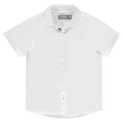 Camisa manga corta de color uniforme