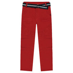 Pantalón con efecto de tela arrugado con cintura extraíble