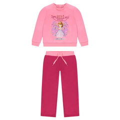 Chándal de felpa rosa Disney Princesa Sofía