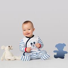 Pijama de punto con rayas y estampado de Mickey ©Disney