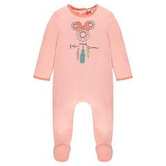 Pijama de punto de una pieza con estampado Disney Minnie y abertura adaptada a cada edad