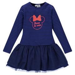 Vestido Minnie Disney con volante de tul estampado fantasía