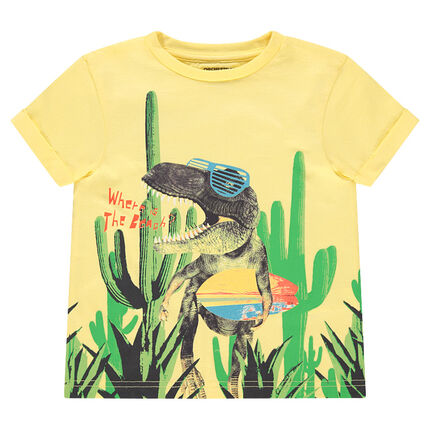 Camiseta de manga corta con dinosaurio estampado