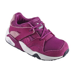 Zapatillas de deporte de caña baja con cordones con sujeción mediante elástico Puma de color violeta