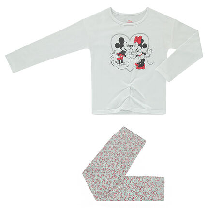 Pijama largo de punto ©Disney con estampado de Mickey et Minnie