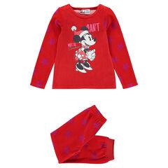 Pijama de terciopelo con estampado Minnie Disney