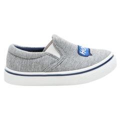 Zapatillas bajas de tela con gomas y bocadillo bordado y ©Smiley de la 24 a la 29