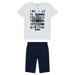 Júnior - Conjunto de camiseta de manga corta estampada y bermudas