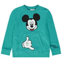 Sudadera de felpa con bolsillo de canguro y Mickey bordado Disney
