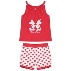 Pijama corto con estampado de Mickey y Minnie Disney y corazones
